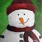 Harry The Snowman Art Print