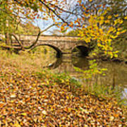 Hartford Bridge In Autumn Art Print