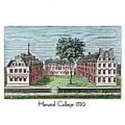 Harvard College - 1720 Art Print