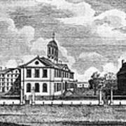 Harvard College, Ca. 1767. From Left Art Print