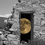 Harvest Moon Through The Magic Door Art Print