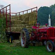 Harvest Time Tractor Art Print