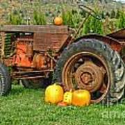 Harvest Tractor Art Print