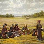 Harvesters Resting In The Sun, Berkshire, 1865 Oil On Canvas Art Print