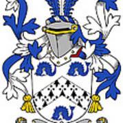 Hassett Coat Of Arms Irish Art Print