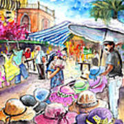 Hat Shopping At Turre Market Art Print
