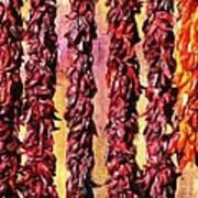 Hatch Red Chili Ristras Art Print