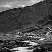 Hatcher's Pass In Black And White Art Print
