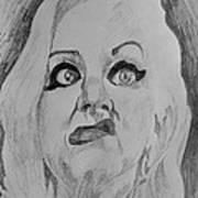 Hatchet Face Art Print