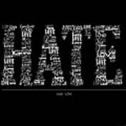 Hate Love Art Print