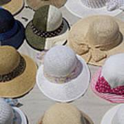 Hats For Sale Next To Marina, Lerici Art Print