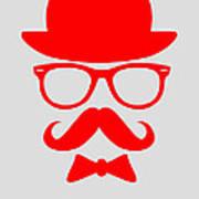 Hats Glasses And Mustache Poster 3 Art Print by Naxart Studio