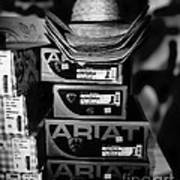 Hats Or Boots Bw Art Print