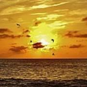 Hatteras Island Sunrise 20 9/3 Art Print
