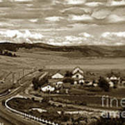 Hatton Ranch Carmel Valley From Highway One California  1940 Art Print