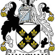 Haughan Coat Of Arms Irish Art Print