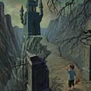 Haunted Castle Nightmare Art Print by Martin Davey