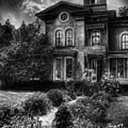 Haunted - Haunted House Art Print by Mike Savad