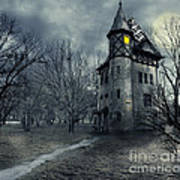 Haunted house Art Print