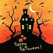 Haunted House Part One Art Print by Linda Mears