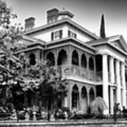 Haunted Mansion New Orleans Disneyland Bw Art Print