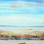 Hauxley Haven Low Tide Rhythms And Driftwood Art Print by Mike   Bell