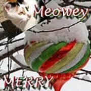 Have A Meowey Merry Christmas Art Print