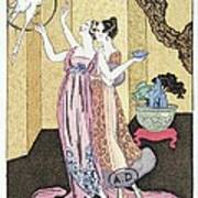 Have You Had A Good Dinner Jacquot? Art Print by Georges Barbier
