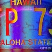 Hawaii Aloha State Art Print