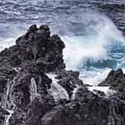 Hawaii Big Island Coastline V4 Art Print