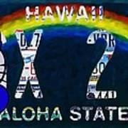 Hawaii License Plate Art Print