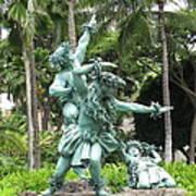 Hawaiian Dancers Statues Art Print