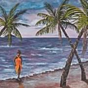 Hawaiian Maiden Art Print
