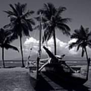 Hawaiian Sailing Canoe Maui Hawaii Art Print