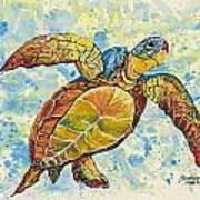 Hawaiian Sea Turtle 2 Art Print