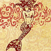Hawaiian Style Mermaid Art Print