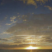 Hawaiian Sunset Panorama Art Print