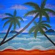Hawaiin Beach Art Print by Haleema Nuredeen