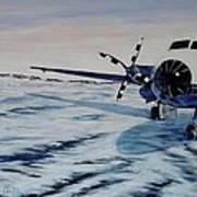 Hawker - Airplane On Ice Art Print
