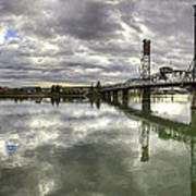 Hawthorne Bridge Over Willamette River Art Print