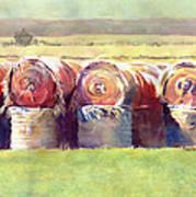 Hay Bales Art Print by Kris Parins