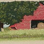 Hay Barn Art Print