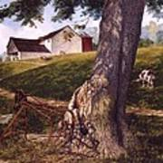 Hay Fork Art Print