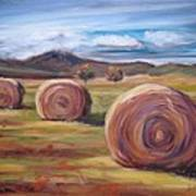 Hay Harvest Art Print