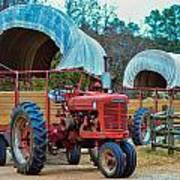 Hay Rides Trailer Art Print