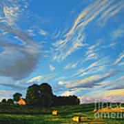 Hay Rolls On The Farm Series One In Westmoreland County Pennsylvania Art Print