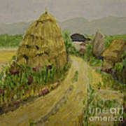 Hay Stack Print by Lilibeth Andre
