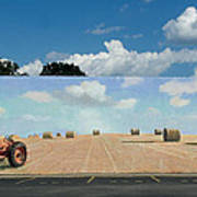 Haybales - The Other Side Of The Tunnel Print by Blue Sky