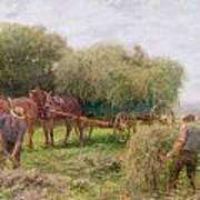 Haymaking Art Print by Arthur Hopkins