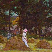 Haymaking  Art Print by Elizabeth Adela Stanhope Forbes